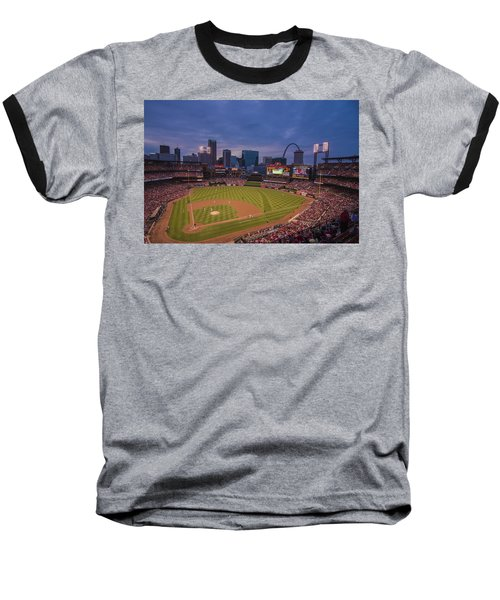 Busch Stadium St. Louis Cardinals Ball Park Village Twilight #3c Baseball T-Shirt