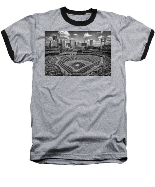 Busch Stadium St. Louis Cardinals Black White Ballpark Village Baseball T-Shirt