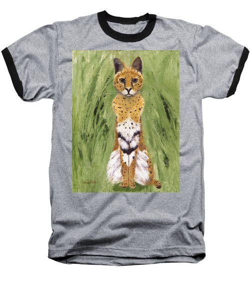 Baseball T-Shirt featuring the painting Bush Cat by Jamie Frier