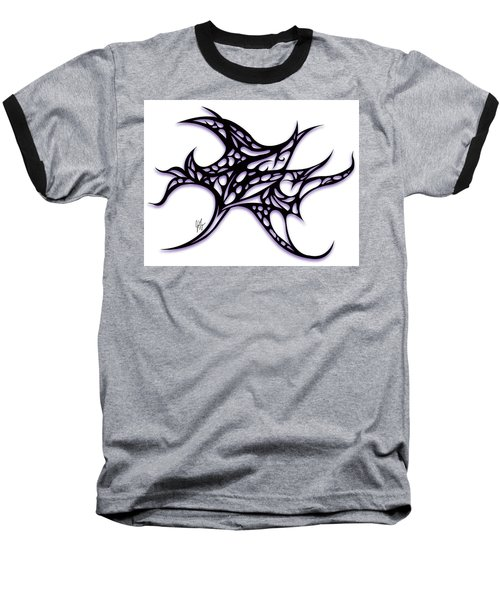 Baseball T-Shirt featuring the drawing Bushal A Thorns Purple by Jamie Lynn