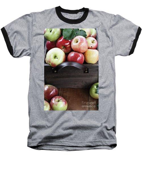 Bushel Of Apples  Baseball T-Shirt by Stephanie Frey