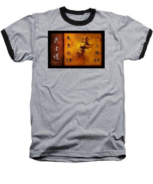Bushido Way Of The Warrior Baseball T-Shirt by John Wills
