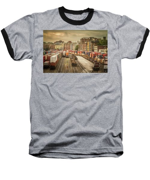 Baseball T-Shirt featuring the photograph Busines End Of The City... by Russell Styles