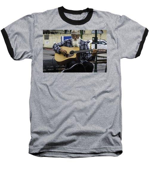 Busking In New Orleans, Louisiana Baseball T-Shirt