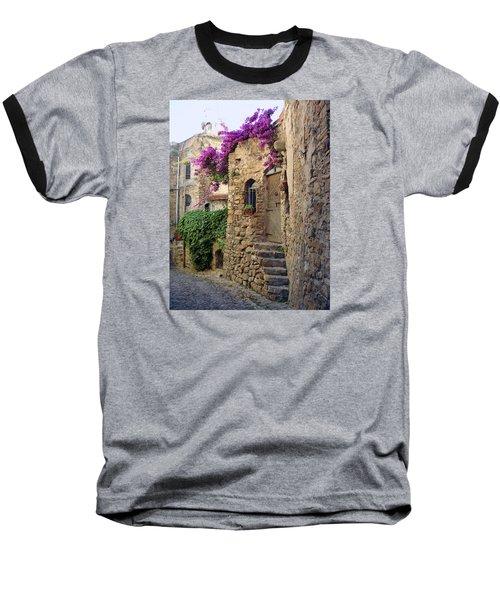 Bussana Vecchia Street Baseball T-Shirt
