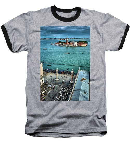 Piazza San Marco And San Giorgio Di Maggiore From The Bell Tower In Venice, Italy Baseball T-Shirt