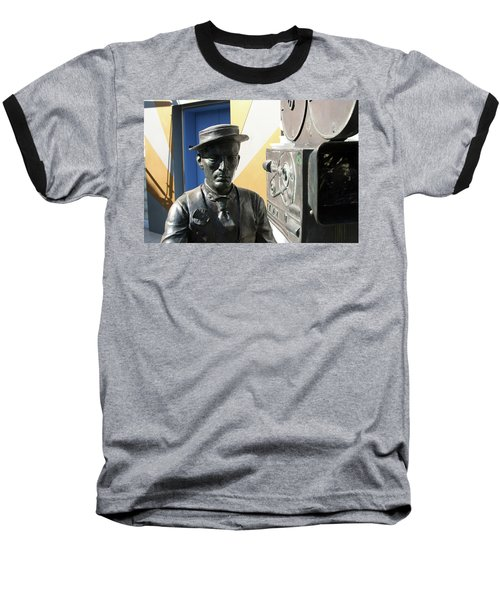 Buster Keaton On Camera Baseball T-Shirt