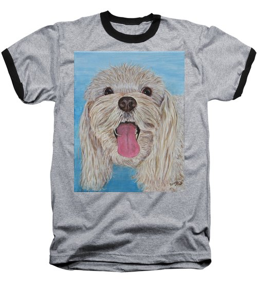 Baseball T-Shirt featuring the painting Buster by Nancy Nale