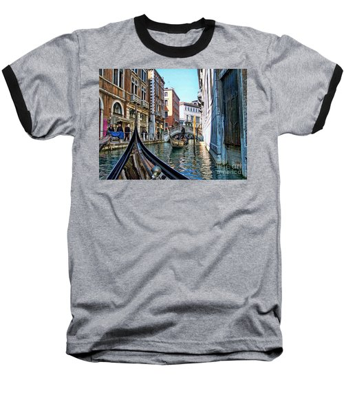 Baseball T-Shirt featuring the photograph Busy Canal by Roberta Byram