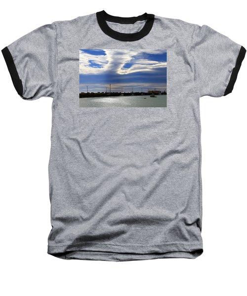Baseball T-Shirt featuring the photograph Busy Day At The Wharf by Nareeta Martin