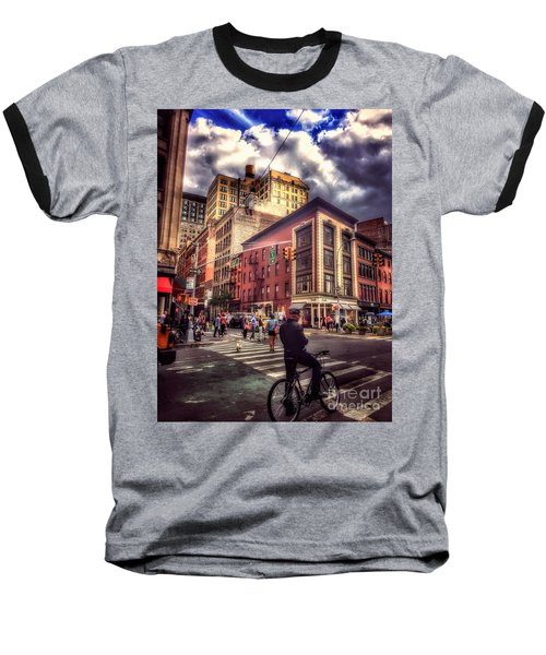 Busy Day In The City Baseball T-Shirt