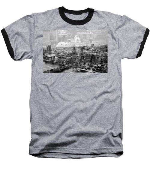 Busy London Baseball T-Shirt by Karen McKenzie McAdoo