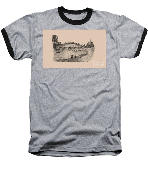 Busy Richmond Bridge And Fishermen Baseball T-Shirt