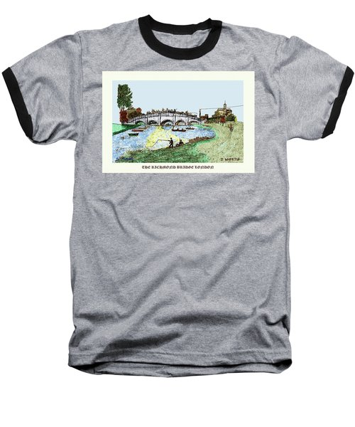 Busy Richmond Bridge Baseball T-Shirt
