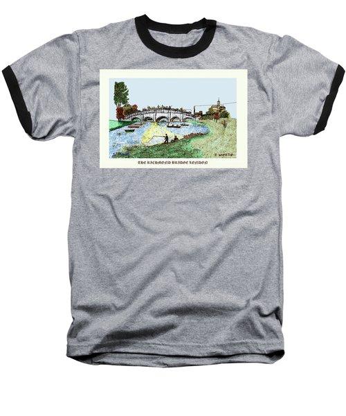 Busy Richmond Bridge Baseball T-Shirt