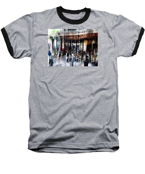 Busy Sidewalk Baseball T-Shirt