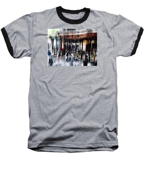 Busy Sidewalk Baseball T-Shirt