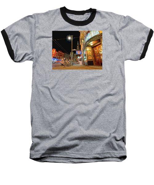Busy View Northbeach San Francisco Baseball T-Shirt by Steve Siri