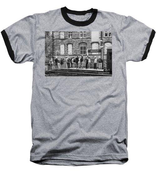 Busy Waiting Baseball T-Shirt by David  Hollingworth