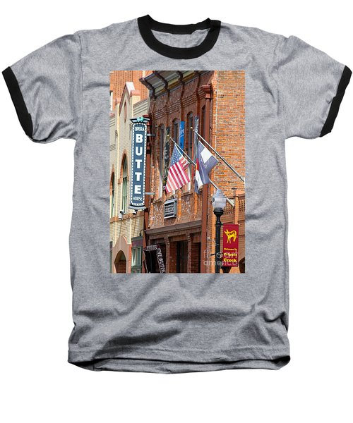 Butte Opera House In Colorado Baseball T-Shirt by Catherine Sherman