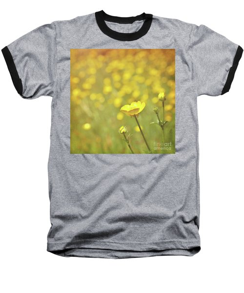 Baseball T-Shirt featuring the photograph Buttercups by Lyn Randle