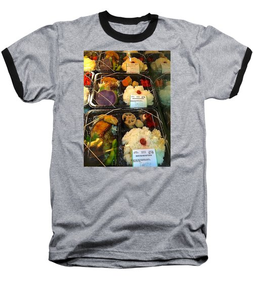 Baseball T-Shirt featuring the photograph Butterfish Bento Box by Brenda Pressnall