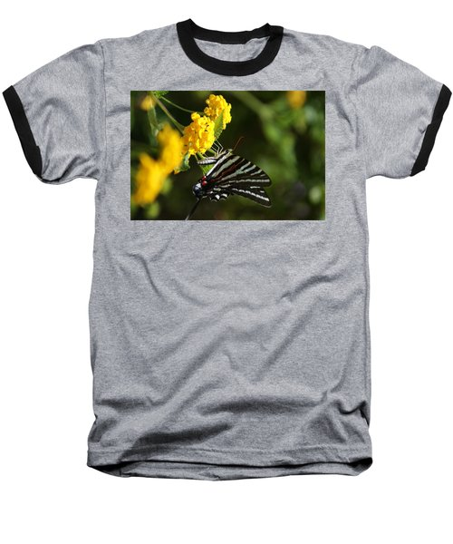 Butterflies And Blooms Baseball T-Shirt