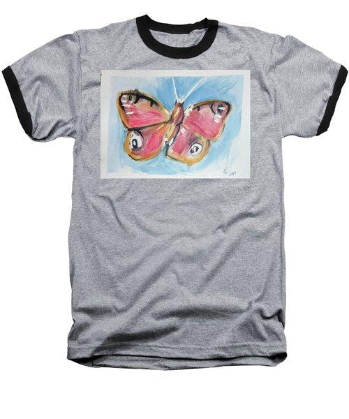 Butterfly 3 Baseball T-Shirt