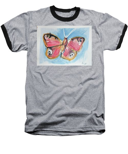 Butterfly 3 Baseball T-Shirt