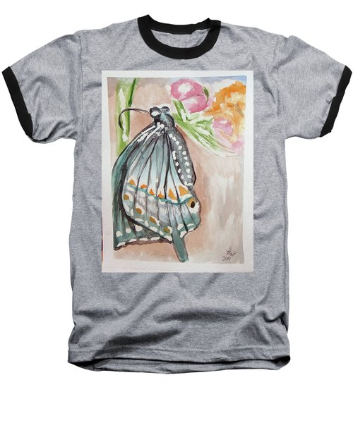 Butterfly 4 Baseball T-Shirt