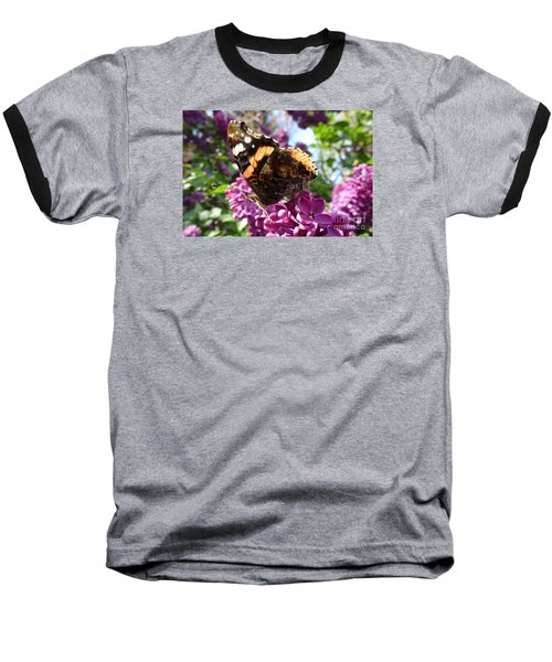 Butterfly 7 Baseball T-Shirt by Jean Bernard Roussilhe