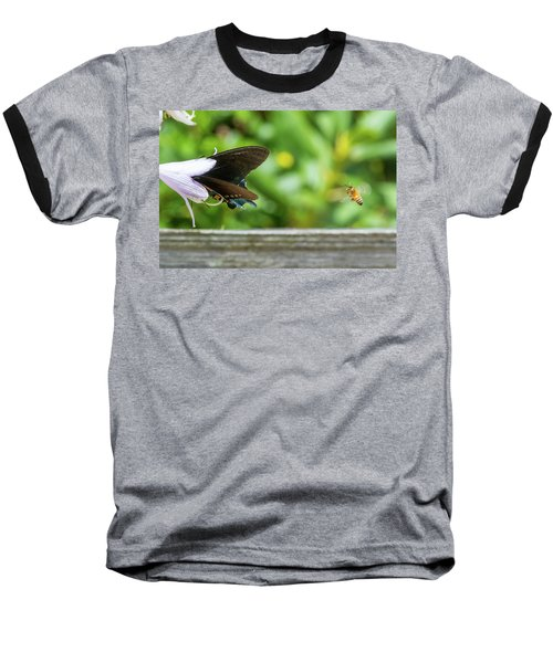 Butterfly And Bee Baseball T-Shirt