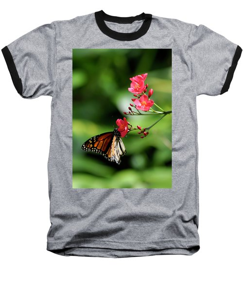 Butterfly And Blossom Baseball T-Shirt