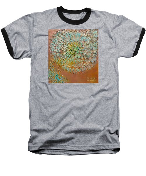 Butterfly And Flower Happy Baseball T-Shirt