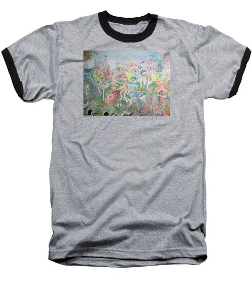 Butterfly Ballet Reflectance Baseball T-Shirt by Judith Desrosiers