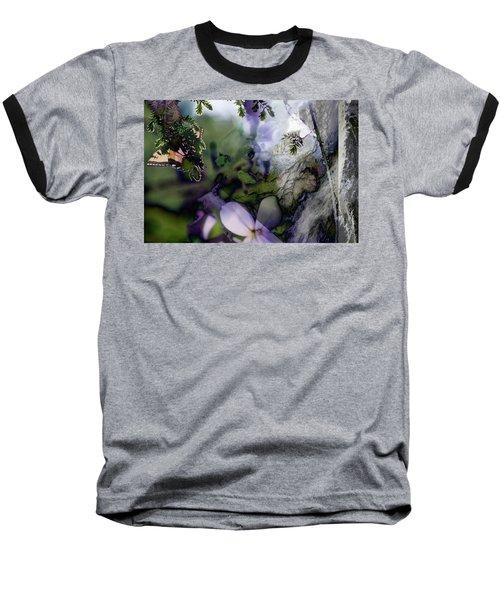 Butterfly Basket Baseball T-Shirt