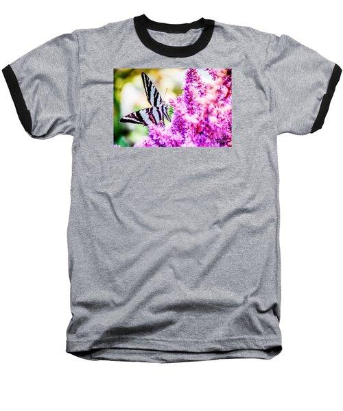 Butterfly Beautiful  Baseball T-Shirt by Peggy Franz