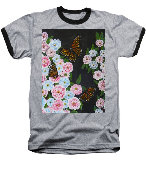 Butterfly Beauty Baseball T-Shirt by Teresa Wing