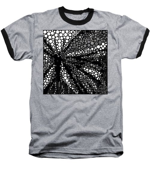 Butterfly Black And White Abstract Baseball T-Shirt