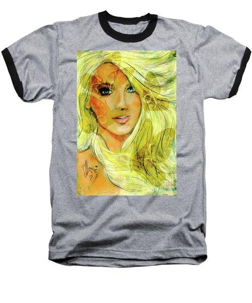 Butterfly Blonde Baseball T-Shirt
