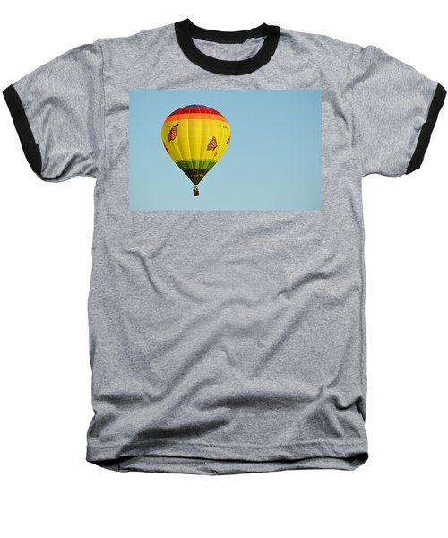 Baseball T-Shirt featuring the photograph Butterfly Designs by AJ Schibig