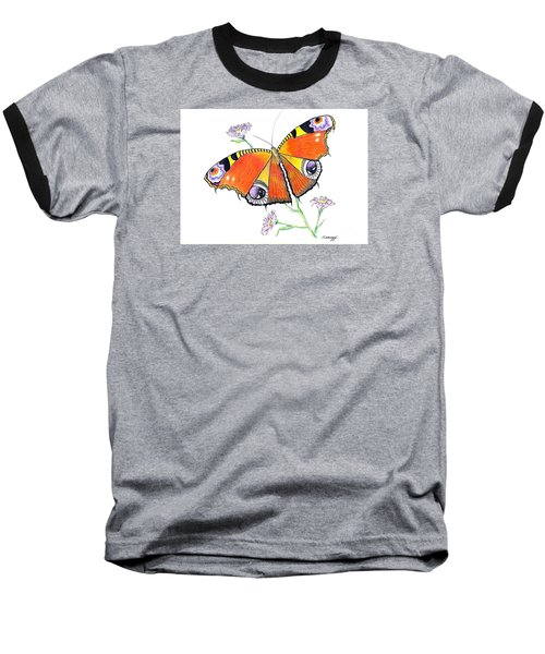 Butterfly Dressed For A Masquerade Ball Baseball T-Shirt