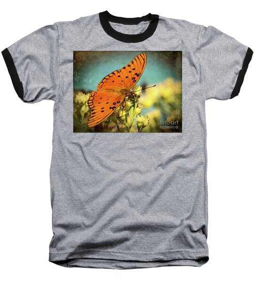 Butterfly Enjoying The Nectar Baseball T-Shirt
