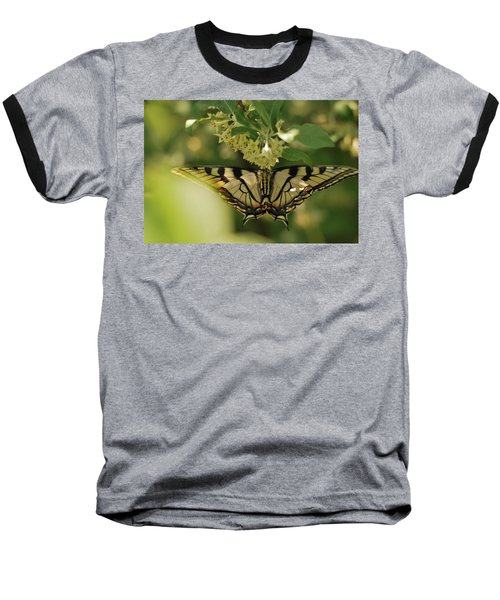 Baseball T-Shirt featuring the photograph Butterfly From Another Side by Susan Capuano