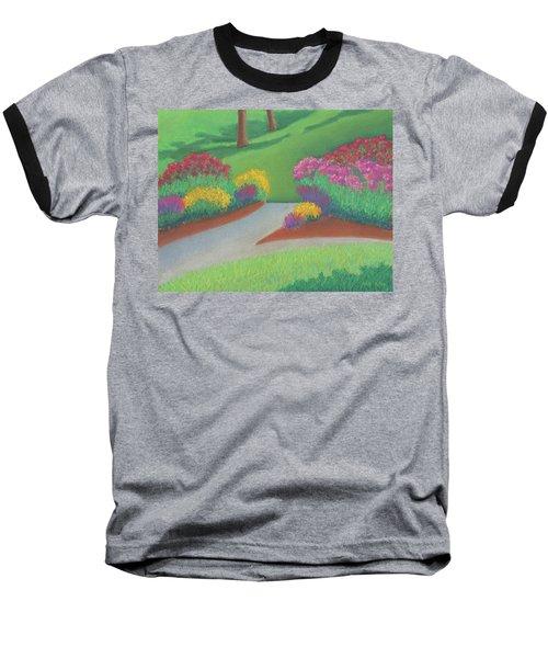 Butterfly Garden Baseball T-Shirt