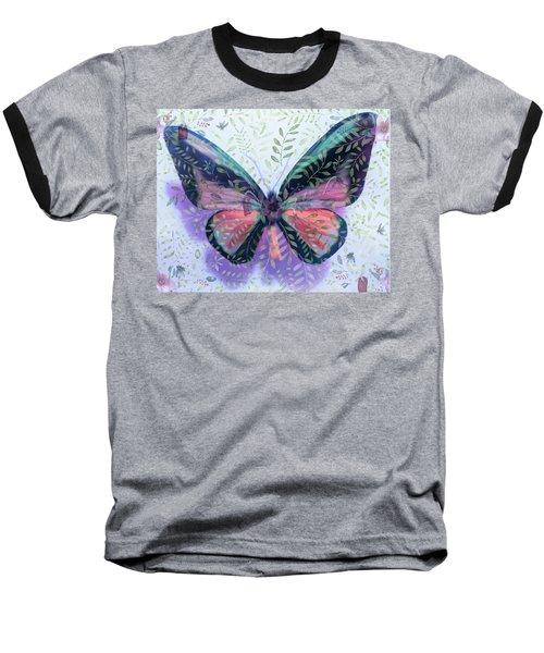 Butterfly Garden Fantasy Baseball T-Shirt