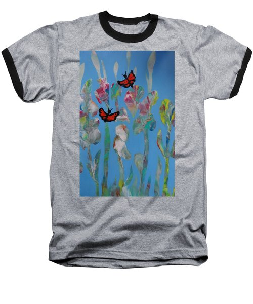 Butterfly Glads Baseball T-Shirt