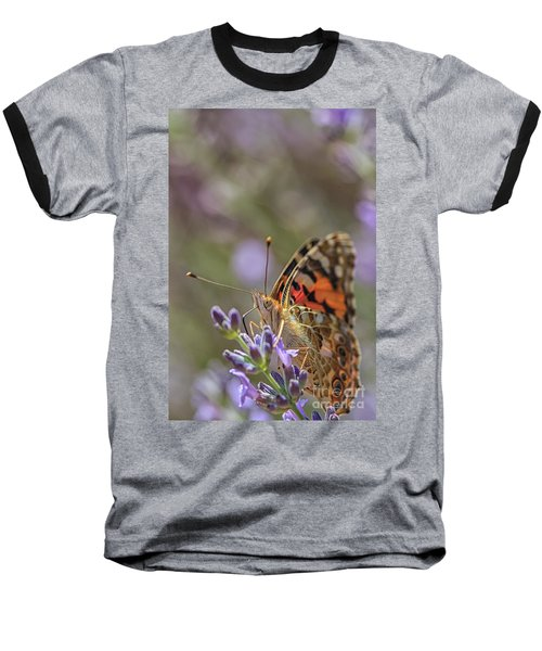 Baseball T-Shirt featuring the photograph Butterfly In Close Up by Patricia Hofmeester