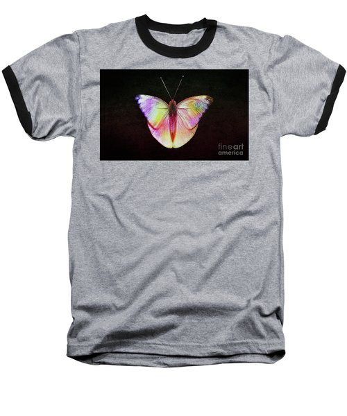 Butterfly In Retro  Baseball T-Shirt by Manjot Singh Sachdeva