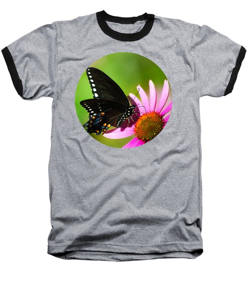 Butterfly In The Sun Baseball T-Shirt by Christina Rollo